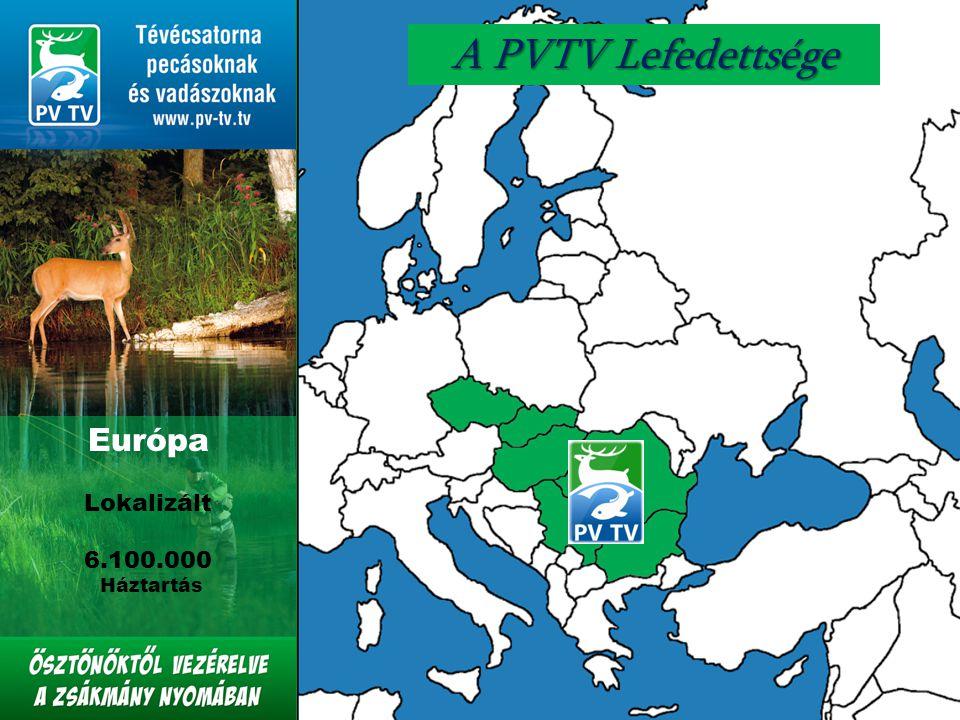 Európa Lokalizált 6.100.000 Háztartás A PVTV Lefedettsége