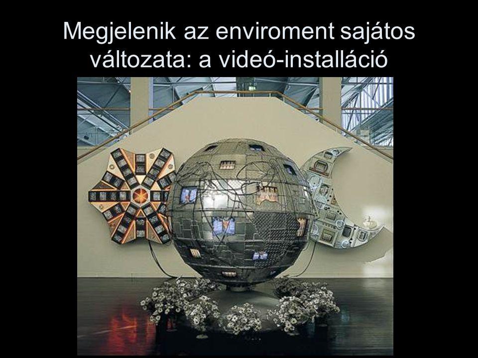Megjelenik az enviroment sajátos változata: a videó-installáció