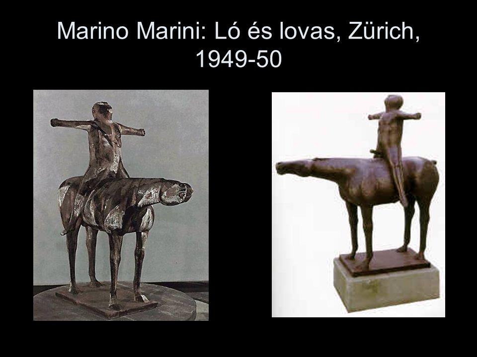 Marino Marini: Ló és lovas, Zürich, 1949-50