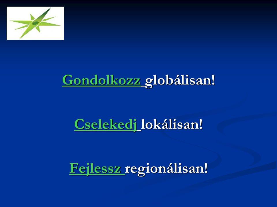 Gondolkozz globálisan! Cselekedj lokálisan! Fejlessz regionálisan!