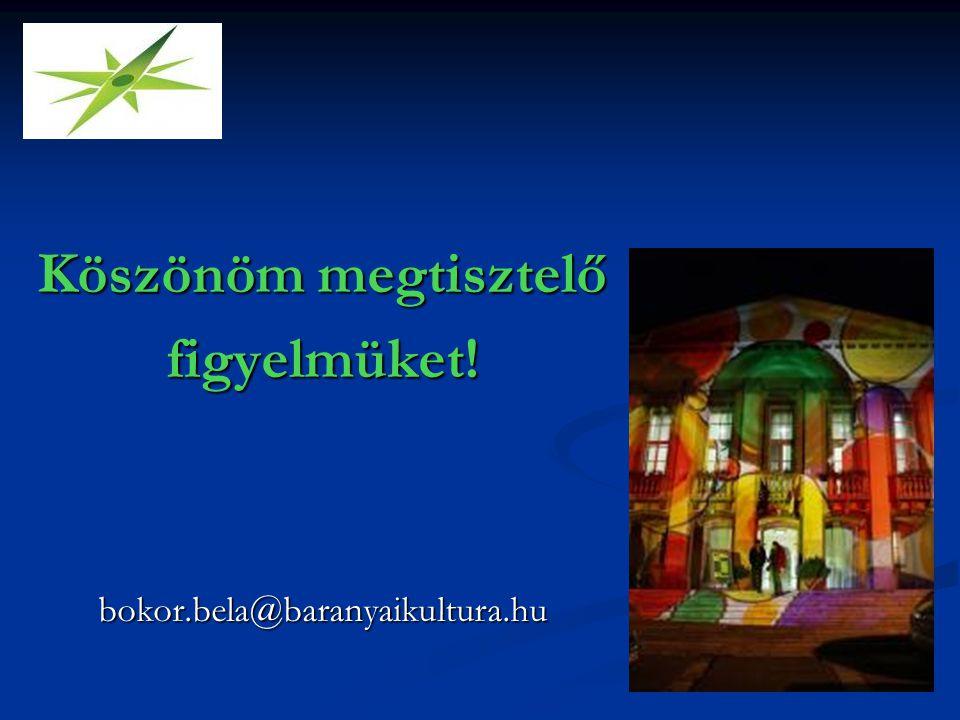 Köszönöm megtisztelő figyelmüket!bokor.bela@baranyaikultura.hu