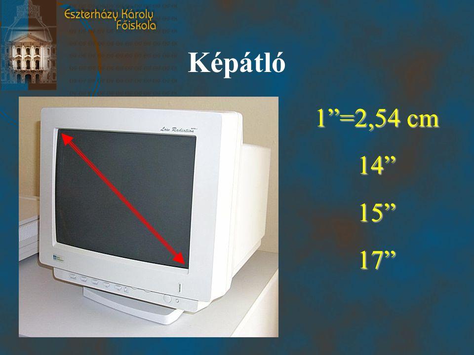 """Képátló 1""""=2,54 cm 14""""15""""17"""""""