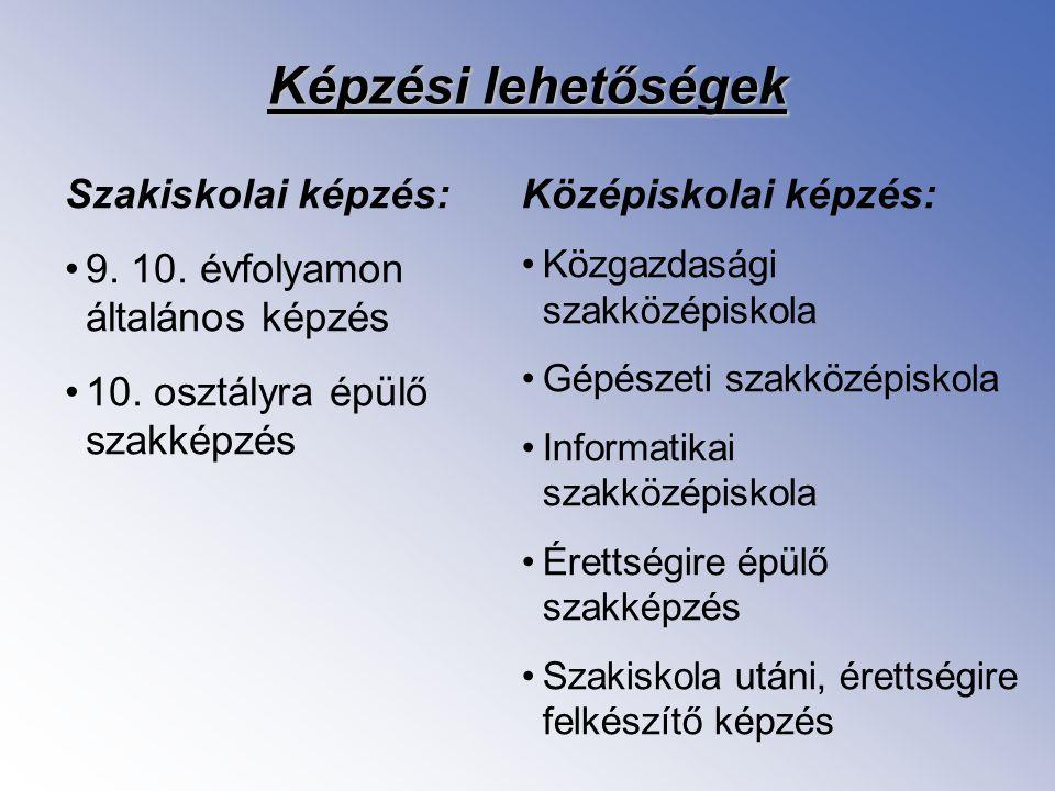 Szakiskolai képzés 9-10.