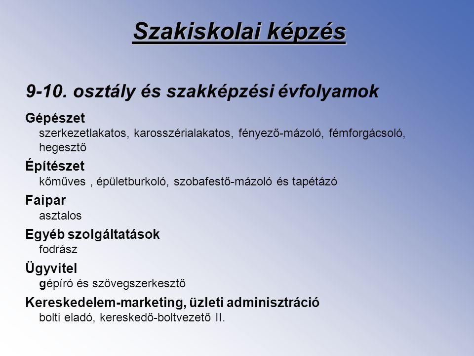 Szakiskolai Fejlesztési Program II.: A 2006.– 2007.