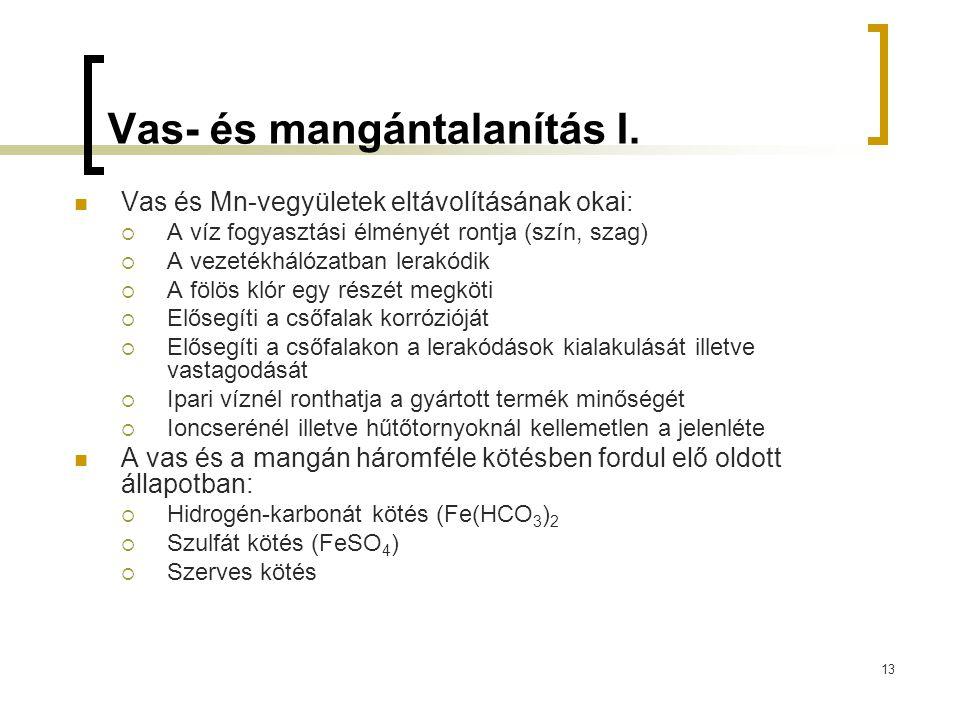 13 Vas- és mangántalanítás I.
