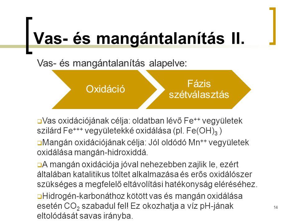 Vas- és mangántalanítás II.