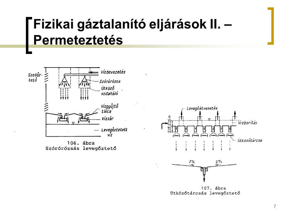 7 Fizikai gáztalanító eljárások II. – Permeteztetés