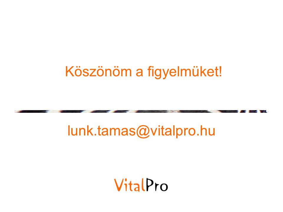 Köszönöm a figyelmüket! lunk.tamas@vitalpro.hu