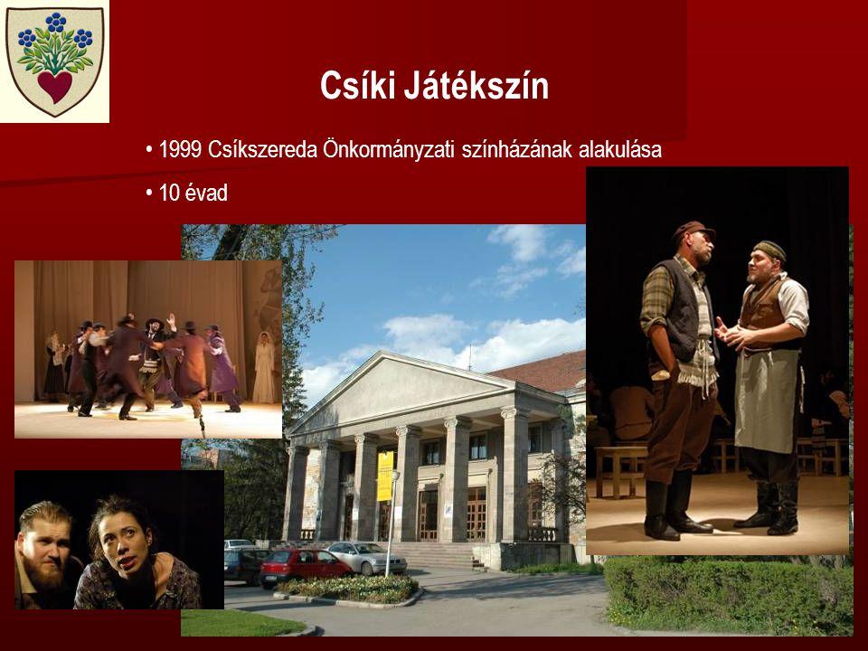 Csíki Játékszín • 1999 Csíkszereda Önkormányzati színházának alakulása • 10 évad