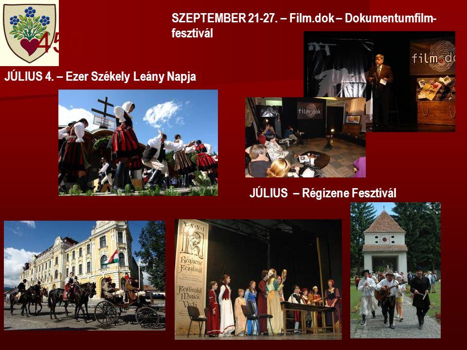 JÚLIUS – Régizene Fesztivál SZEPTEMBER 21-27. – Film.dok – Dokumentumfilm- fesztivál JÚLIUS 4.