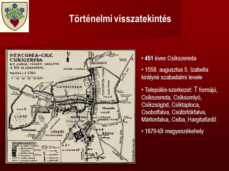 Történelmi visszatekintés 451 • 451 éves Csíkszereda • 1558.