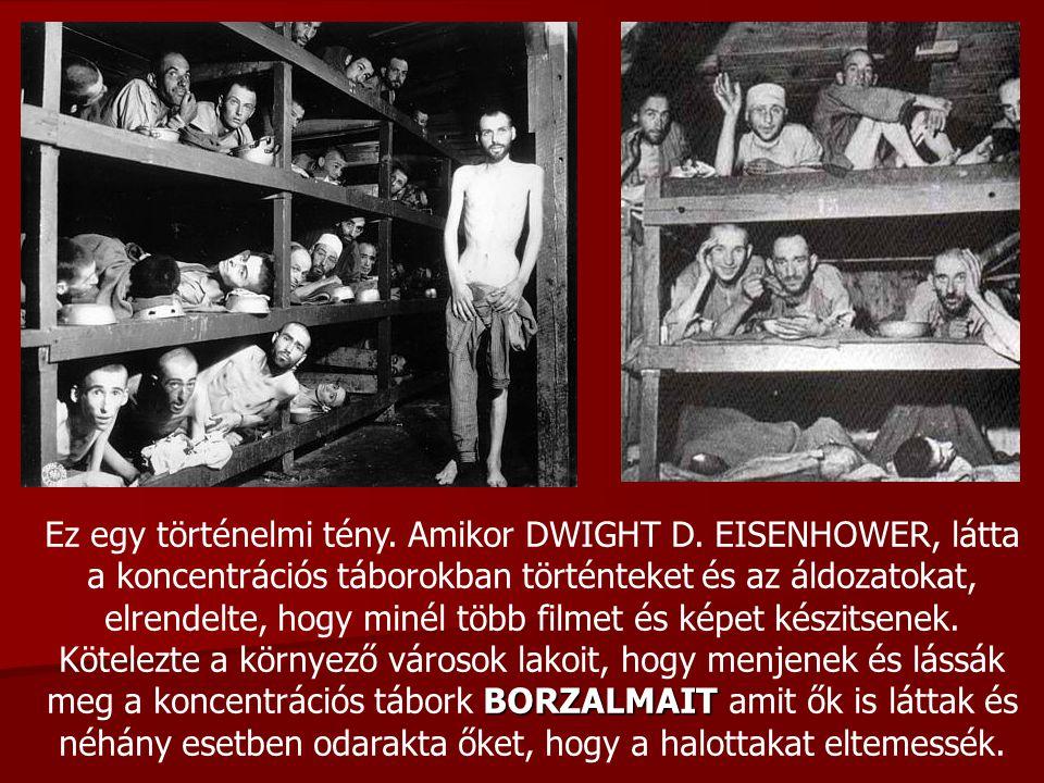 Ez egy történelmi tény. Amikor DWIGHT D. EISENHOWER, látta a koncentrációs táborokban történteket és az áldozatokat, elrendelte, hogy minél több filme