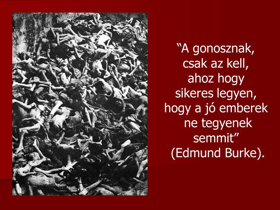 """""""A gonosznak, csak az kell, ahoz hogy sikeres legyen, hogy a jó emberek ne tegyenek semmit"""" (Edmund Burke)."""