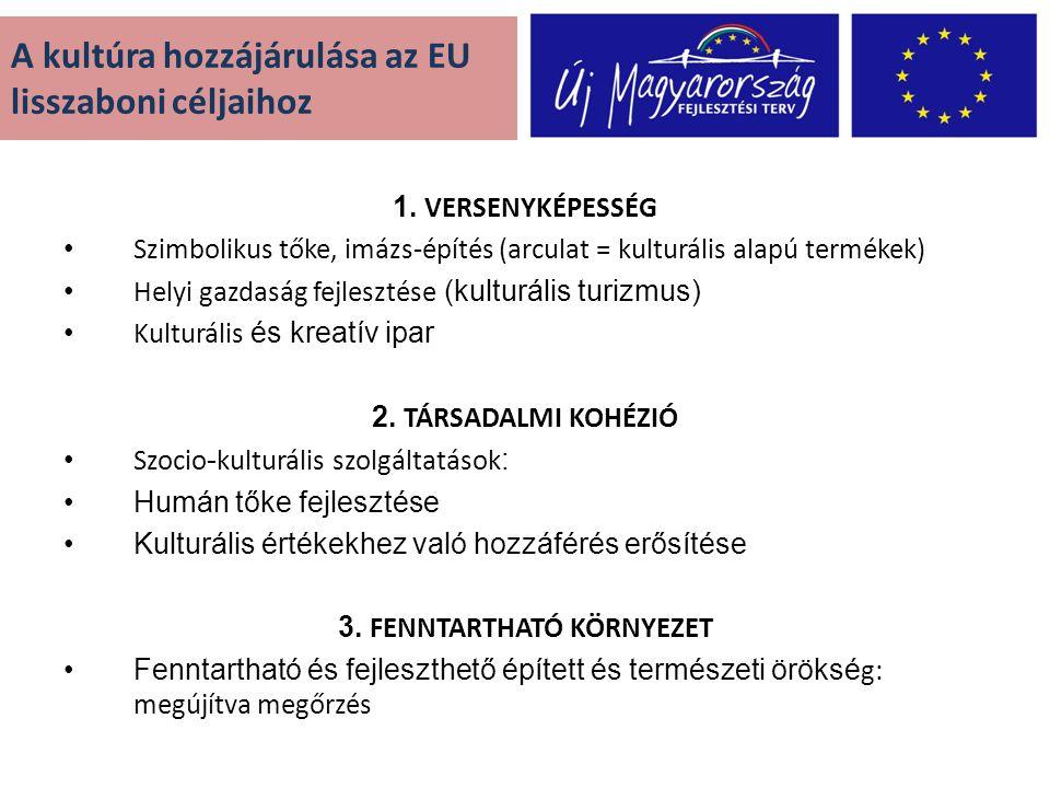 A kultúra hozzájárulása az EU lisszaboni céljaihoz 1.