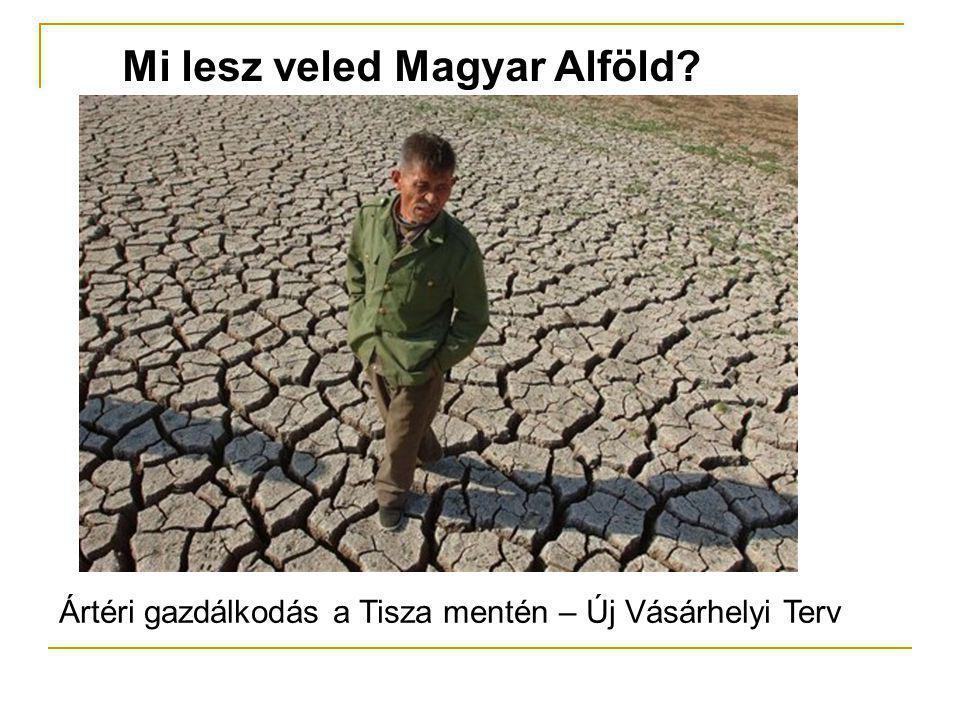 Mi lesz veled Magyar Alföld? Aszály és áradások Ártéri gazdálkodás a Tisza mentén – Új Vásárhelyi Terv