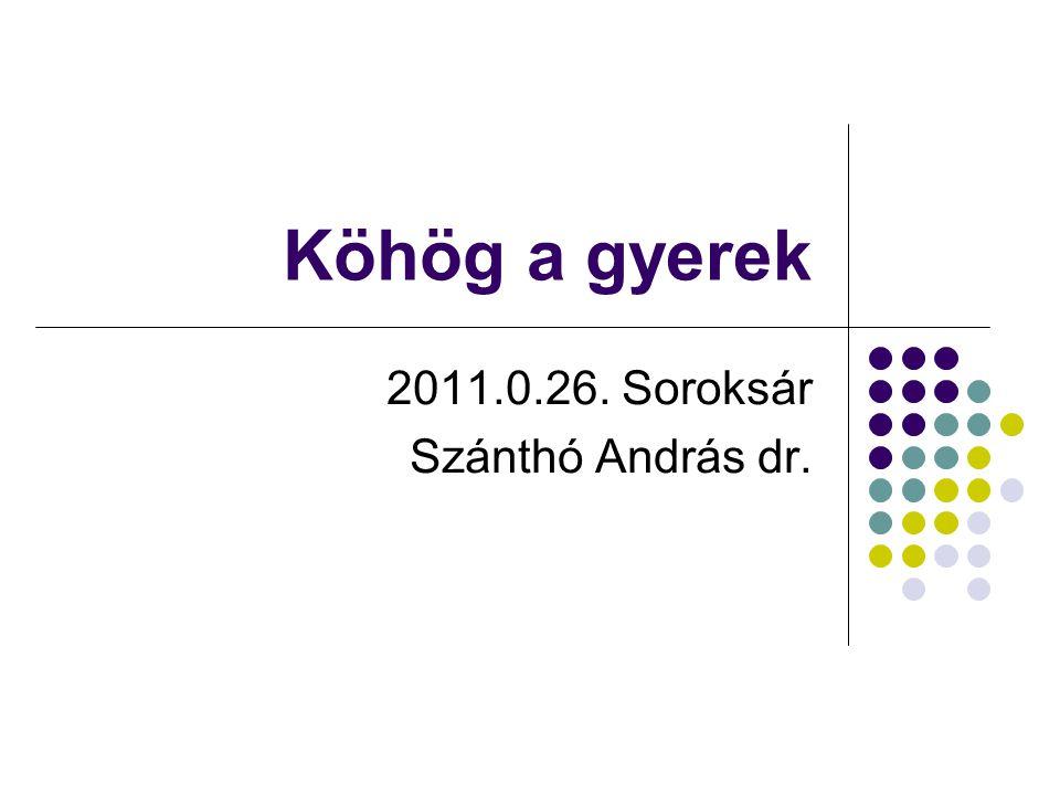 Köhög a gyerek 2011.0.26. Soroksár Szánthó András dr.