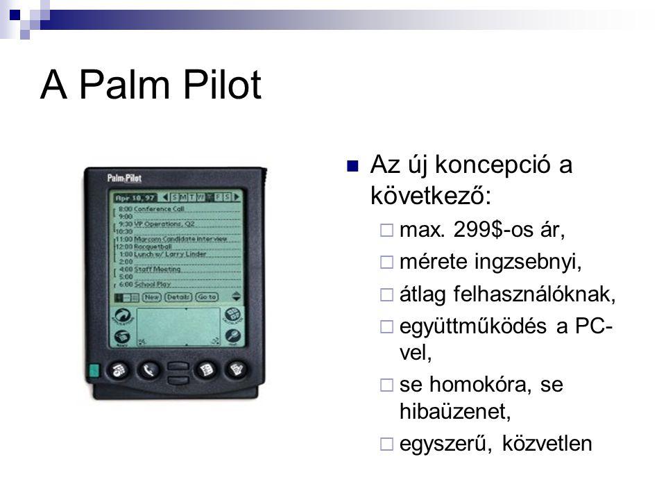 A Palm Pilot  Az új koncepció a következő:  max.