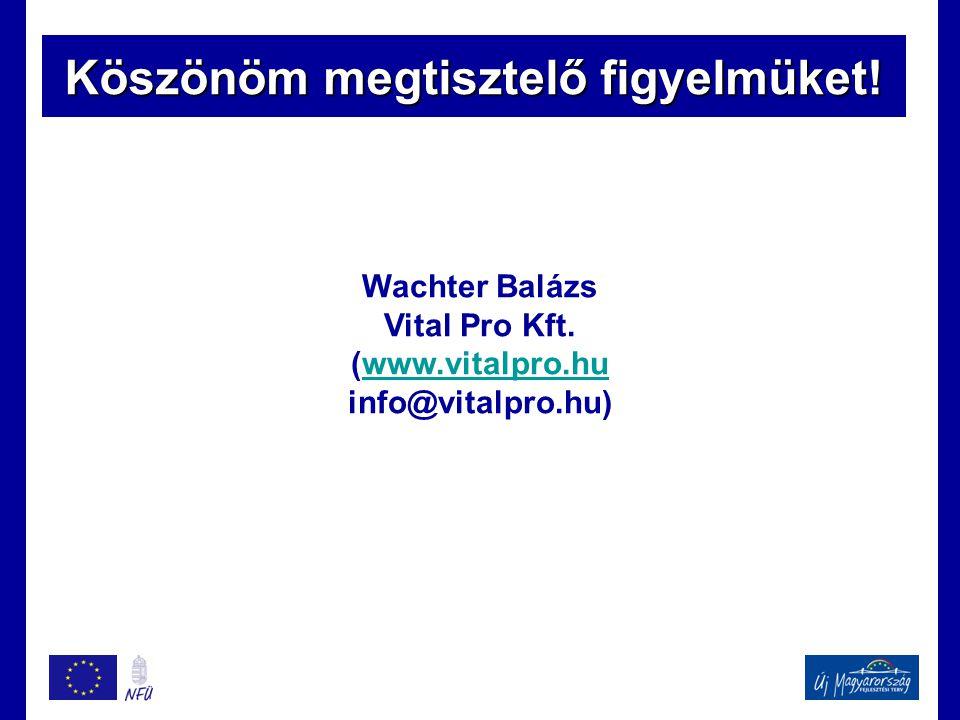 Köszönöm megtisztelő figyelmüket! Wachter Balázs Vital Pro Kft. (www.vitalpro.huwww.vitalpro.hu info@vitalpro.hu)