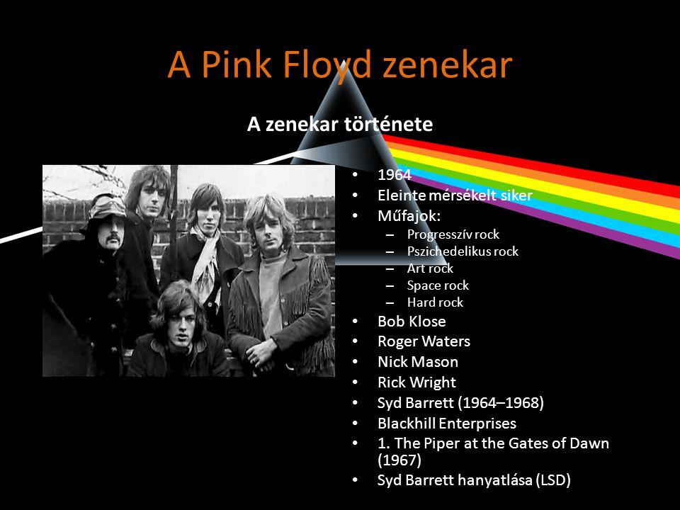 A Pink Floyd zenekar • 1985 decemberében Waters kiválik • Waters beperelte a Pink Floydot • 16.