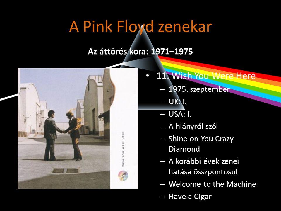 A Pink Floyd zenekar • Gitárközpontúbb zene • 12.Animals – 1977.