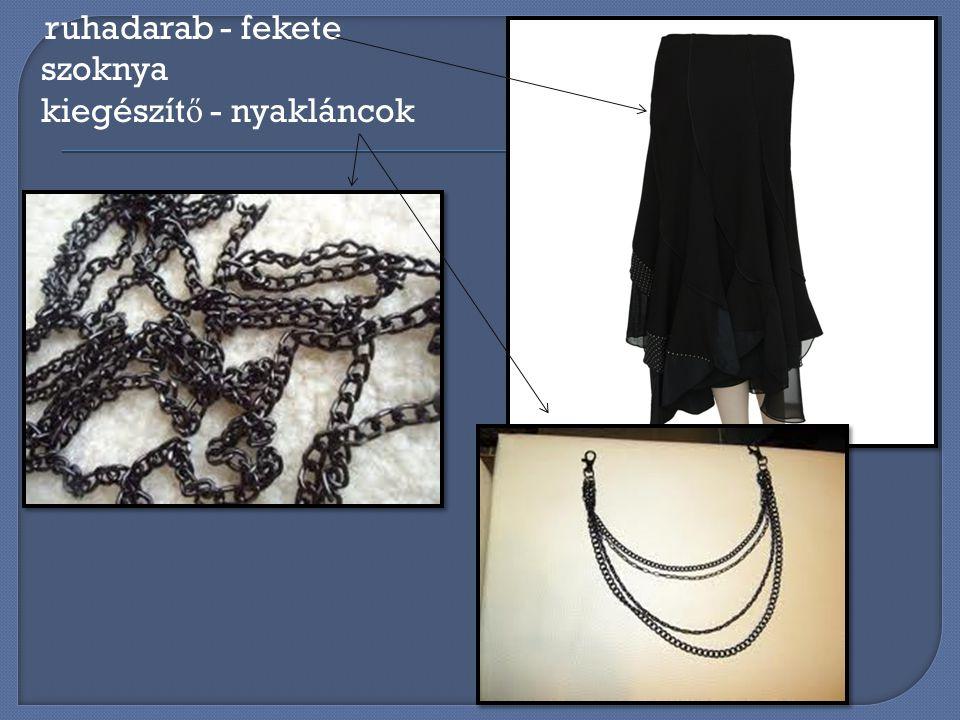 ruhadarab - fekete szoknya kiegészít ő - nyakláncok