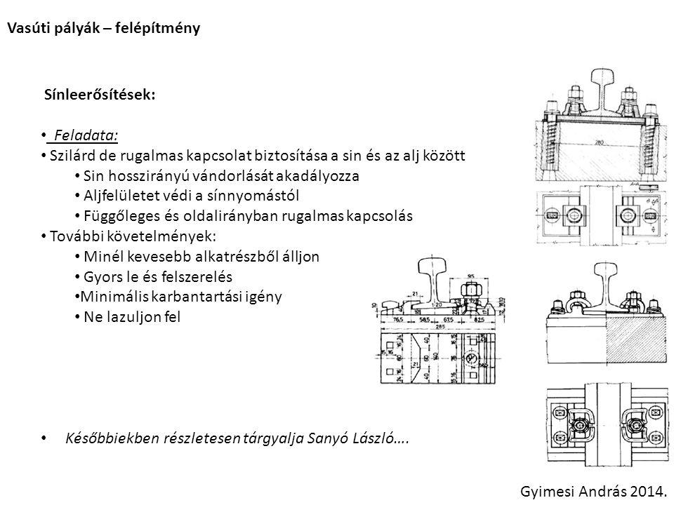 Vasúti pályák – felépítmény építés Új pálya építése: [18] – Ágyazat tömörítése, végleges szilárdság megadása Gyimesi András 2014.