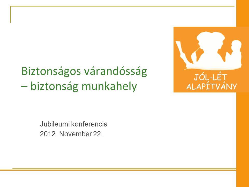 Biztonságos várandósság – biztonság munkahely Jubileumi konferencia 2012. November 22.