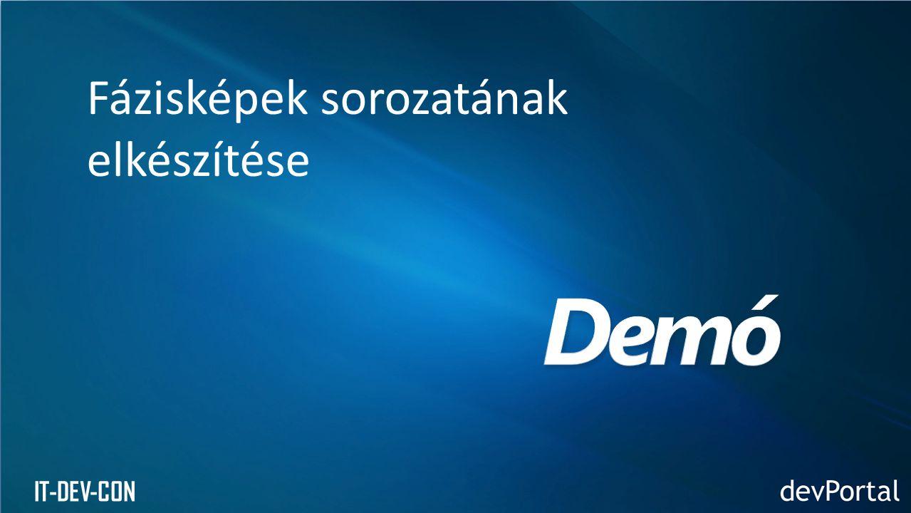 IT-DEV-CON Fázisképek sorozatának elkészítése