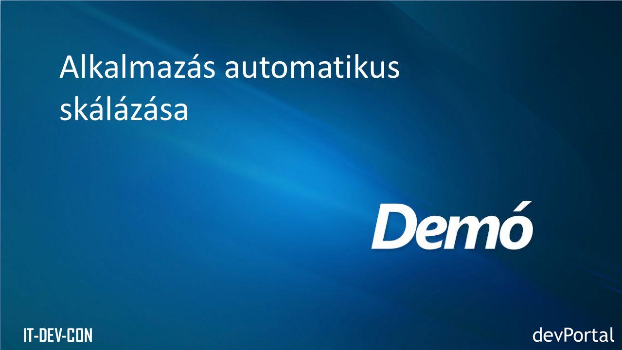 IT-DEV-CON Alkalmazás automatikus skálázása