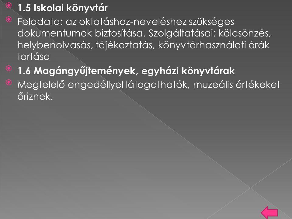 Magyar könyvtárak www.mek.oszk.hu/porta/virtual/magyar/opac.ht m www.mek.oszk.hu/porta/virtual/magyar/opac.ht m Közös Elektronikus Katalógus www.eduport.hu/kozelkat www.eduport.hu/kozelkat Magyar Elektronikus Könyvtár http://www.mek.oszk.hu/ A szolgáltatás 1995 elején indult.