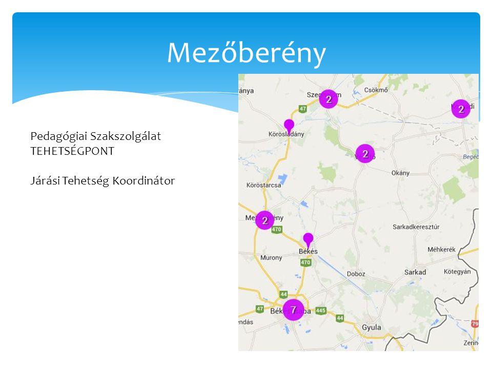 Mezőberény Pedagógiai Szakszolgálat TEHETSÉGPONT Járási Tehetség Koordinátor