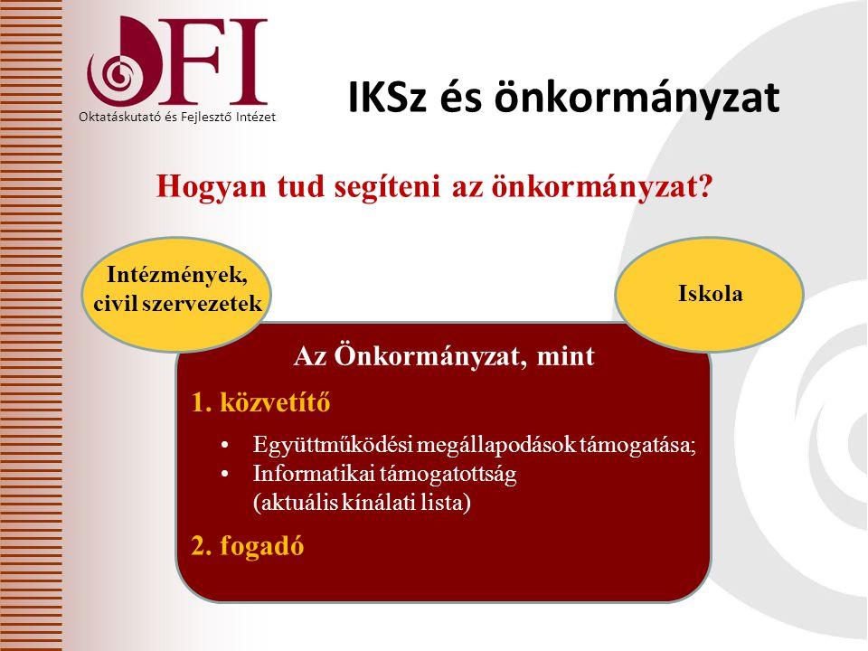 Oktatáskutató és Fejlesztő Intézet Hogyan tud segíteni az önkormányzat.