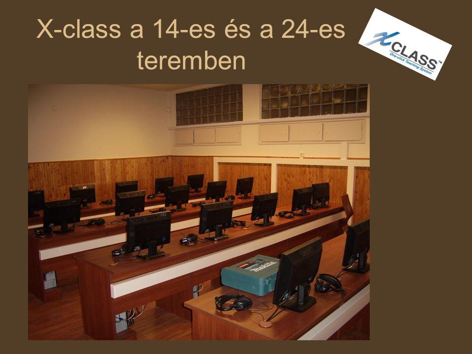 X-class a 14-es és a 24-es teremben