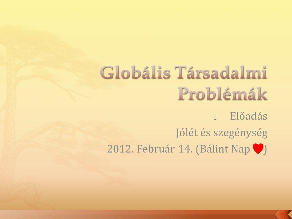 1. Előadás Jólét és szegénység 2012. Február 14. (Bálint Nap )