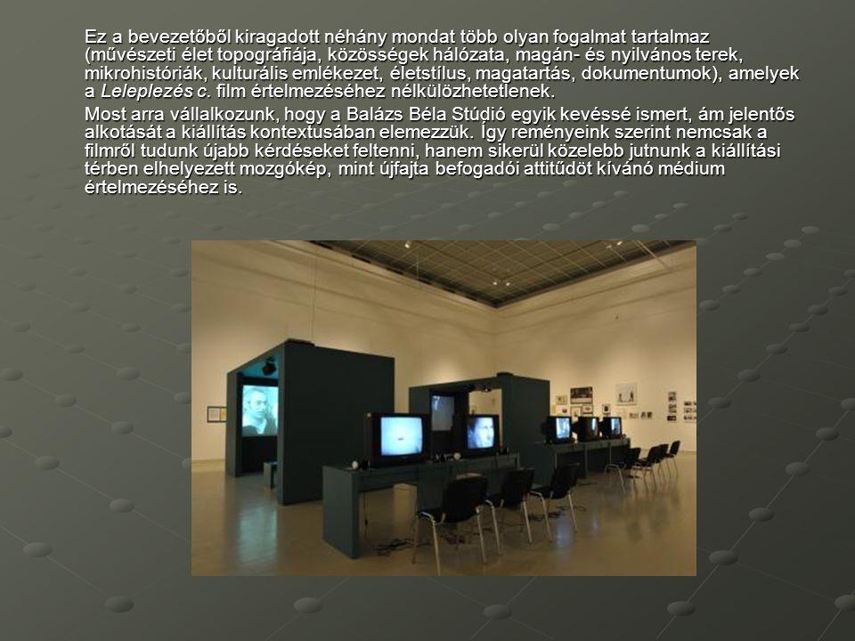 Ez a bevezetőből kiragadott néhány mondat több olyan fogalmat tartalmaz (művészeti élet topográfiája, közösségek hálózata, magán- és nyilvános terek,