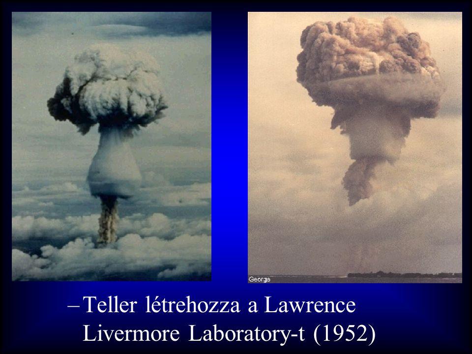 –Teller létrehozza a Lawrence Livermore Laboratory-t (1952)