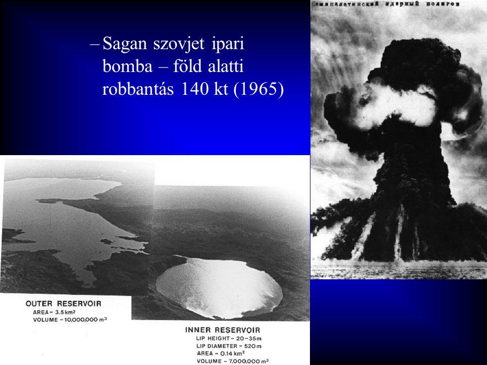 –Sagan szovjet ipari bomba – föld alatti robbantás 140 kt (1965)