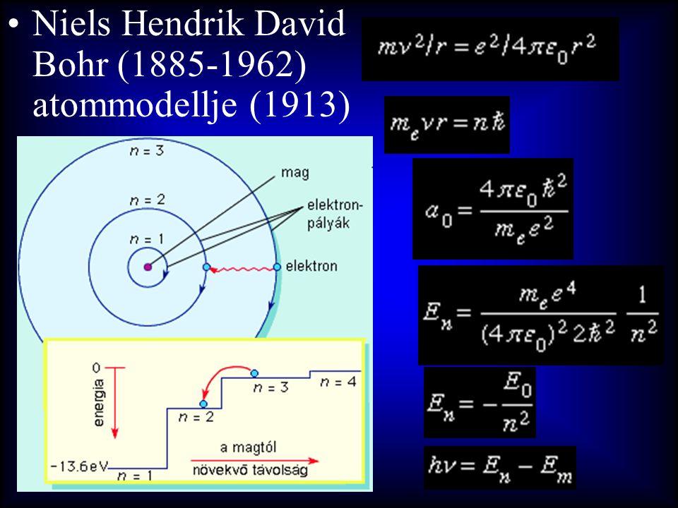 •Niels Hendrik David Bohr (1885-1962) atommodellje (1913)