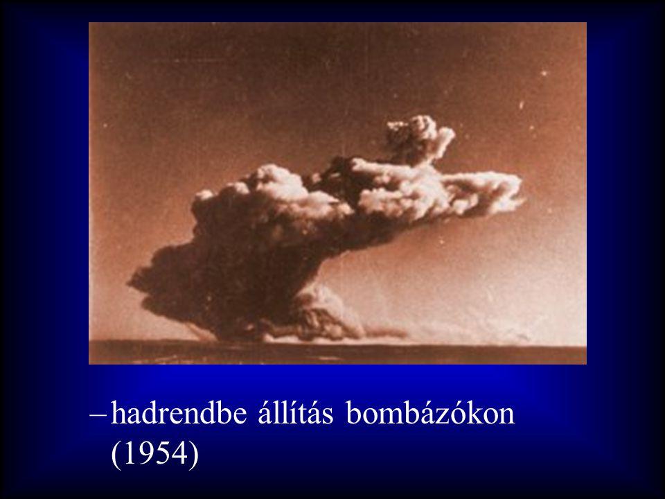 –hadrendbe állítás bombázókon (1954)