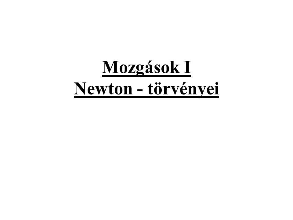 Mozgások I Newton - törvényei