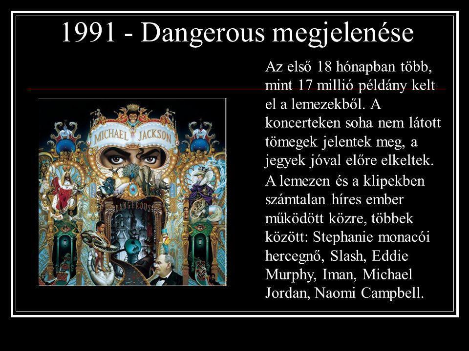 1989 – Moonwalker című film megjelenése Michael Jackson varázslatos zenei utazásra hívja a nézőket, amelynek során felidéződnek az énekes- táncos pály
