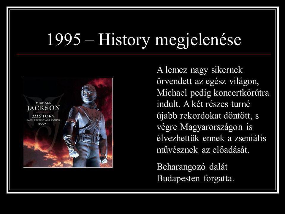 1991 - Dangerous megjelenése Az első 18 hónapban több, mint 17 millió példány kelt el a lemezekből. A koncerteken soha nem látott tömegek jelentek meg