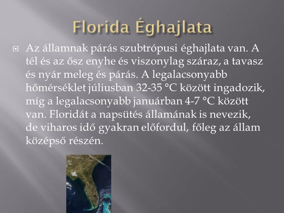  Az államnak párás szubtrópusi éghajlata van. A tél és az ősz enyhe és viszonylag száraz, a tavasz és nyár meleg és párás. A legalacsonyabb hőmérsékl