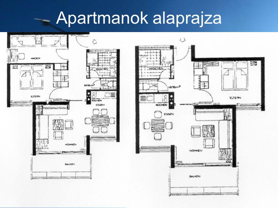 Apartmanok alaprajza