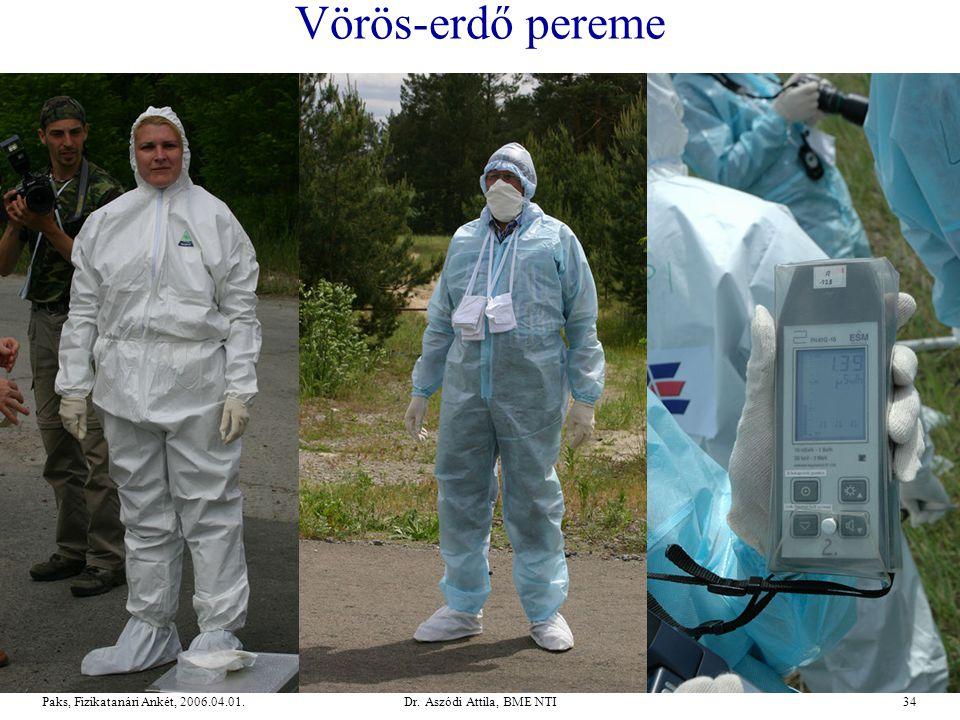 Dr. Aszódi Attila, BME NTI34Paks, Fizikatanári Ankét, 2006.04.01. Vörös-erdő pereme