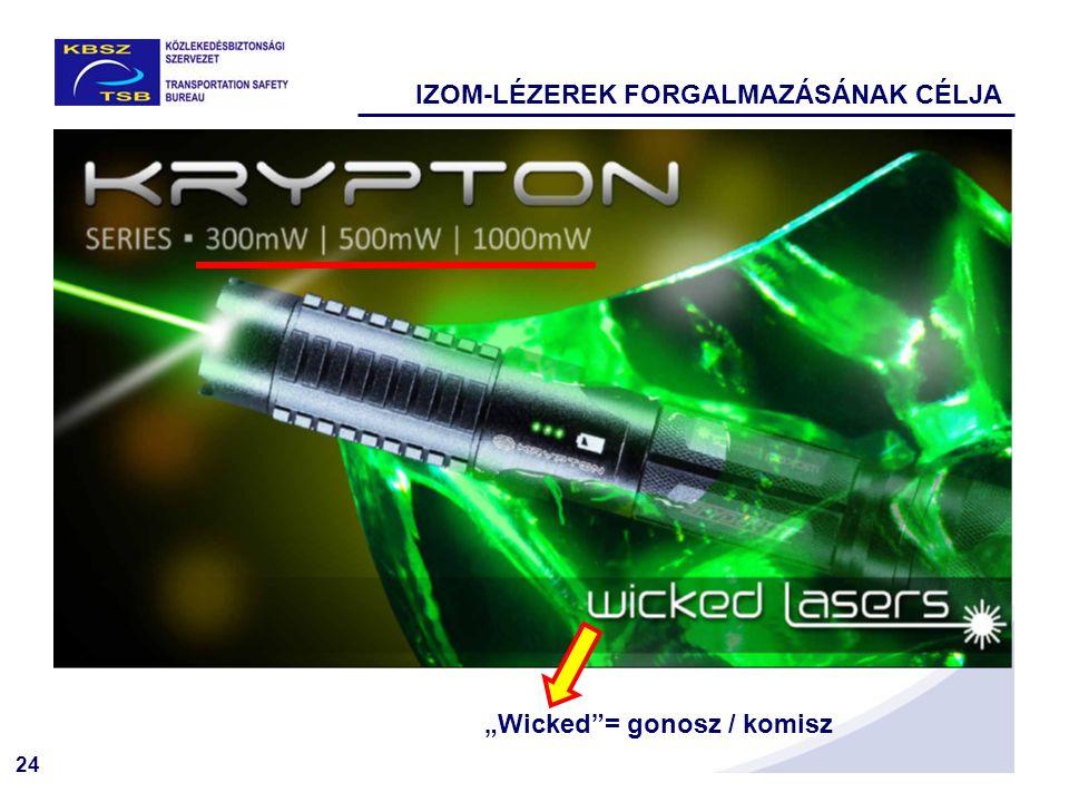 """24 IZOM-LÉZEREK FORGALMAZÁSÁNAK CÉLJA """"Wicked""""= gonosz / komisz"""