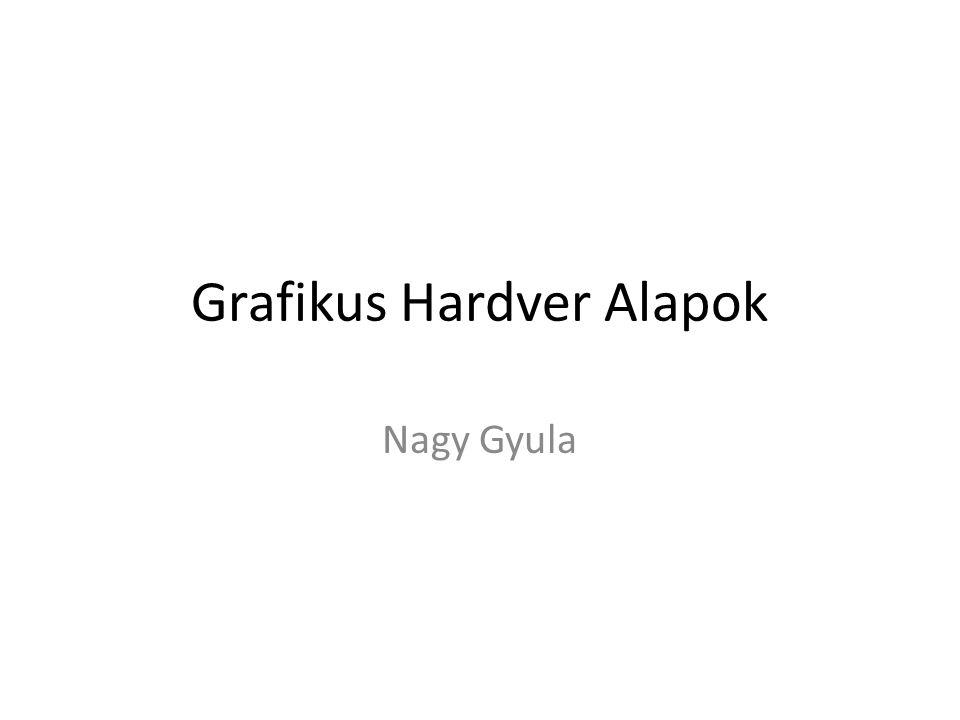 Grafikus Hardver Alapok Nagy Gyula