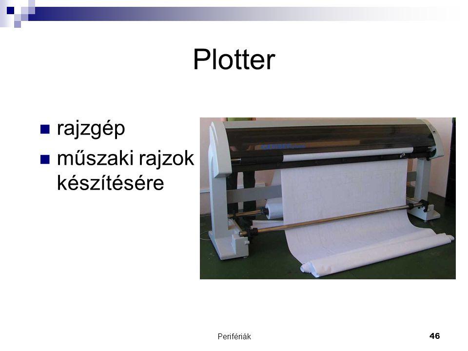 Perifériák46 Plotter  rajzgép  műszaki rajzok készítésére
