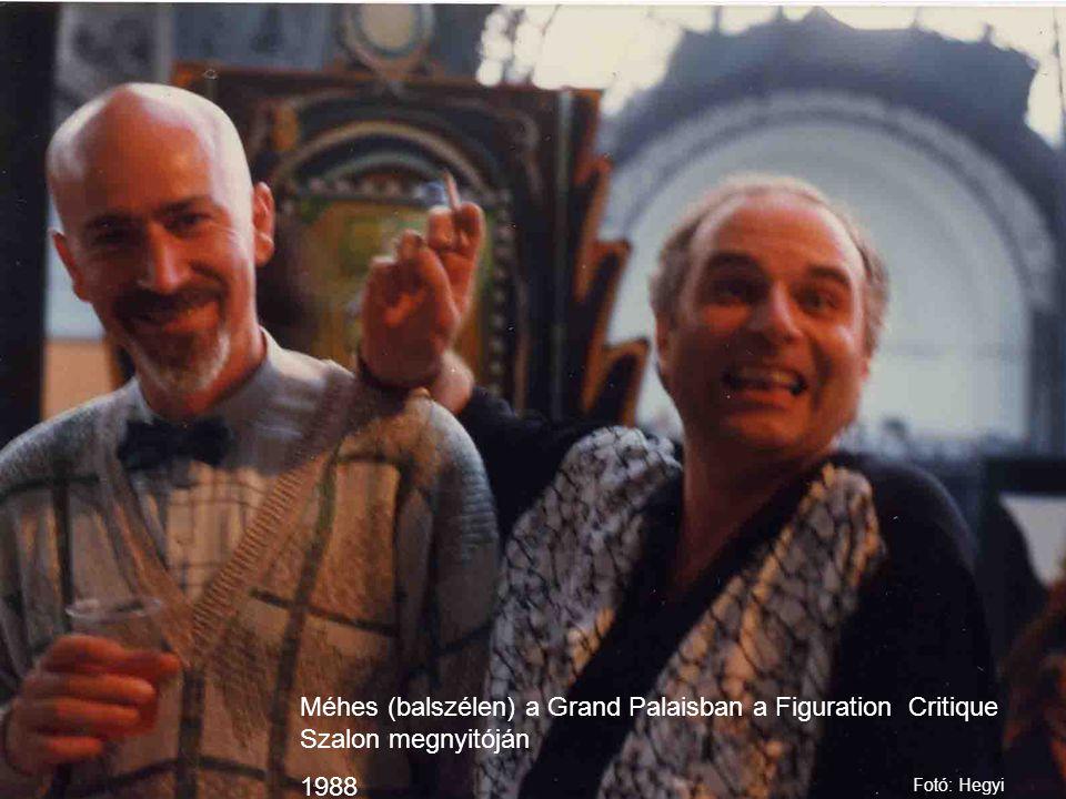 Méhes (balszélen) a Grand Palaisban a Figuration Critique Szalon megnyitóján 1988 Fotó: Hegyi