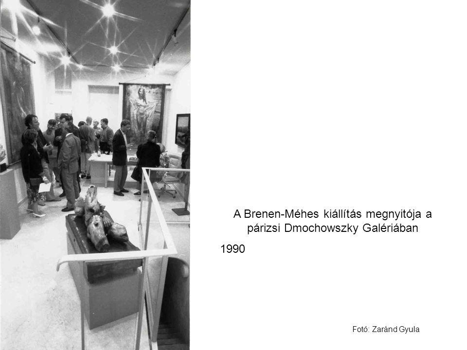 A Brenen-Méhes kiállítás megnyitója a párizsi Dmochowszky Galériában 1990 Fotó: Zaránd Gyula
